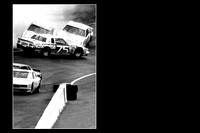 Turn 4 crash, Neil Bonnett - Bristol (TN) Motor Speedway