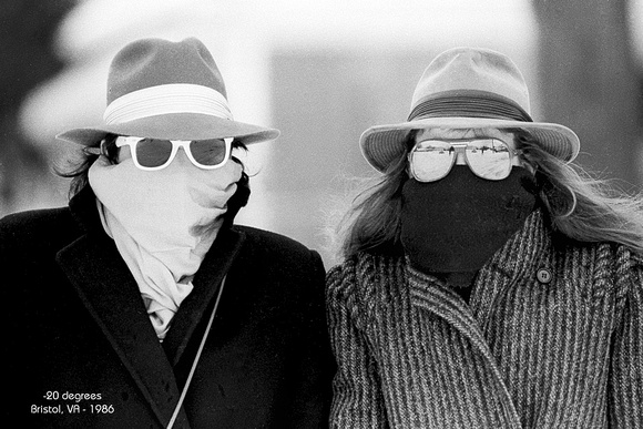 -20 degrees below zero - Bristol VA - 1986