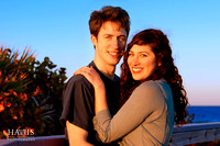 Nathan and Bari -- in the warm, late afternoon light of Florida's the Canaveral National Seashore.